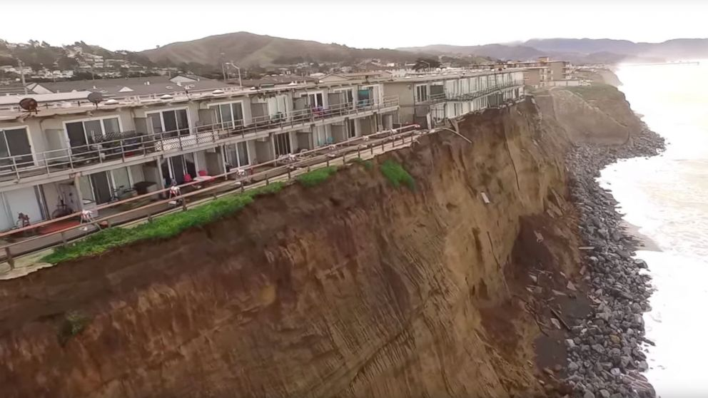 . Dramatic Photos Show Apartments Just Feet Away From Falling Into the