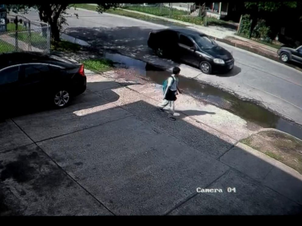 PHOTO: Surveillance cameras captured Josue Flores, 11, a sixth-grader in Houston, Texas, walking home from school moments before he was brutally stabbed to death. Police are looking for his killer.