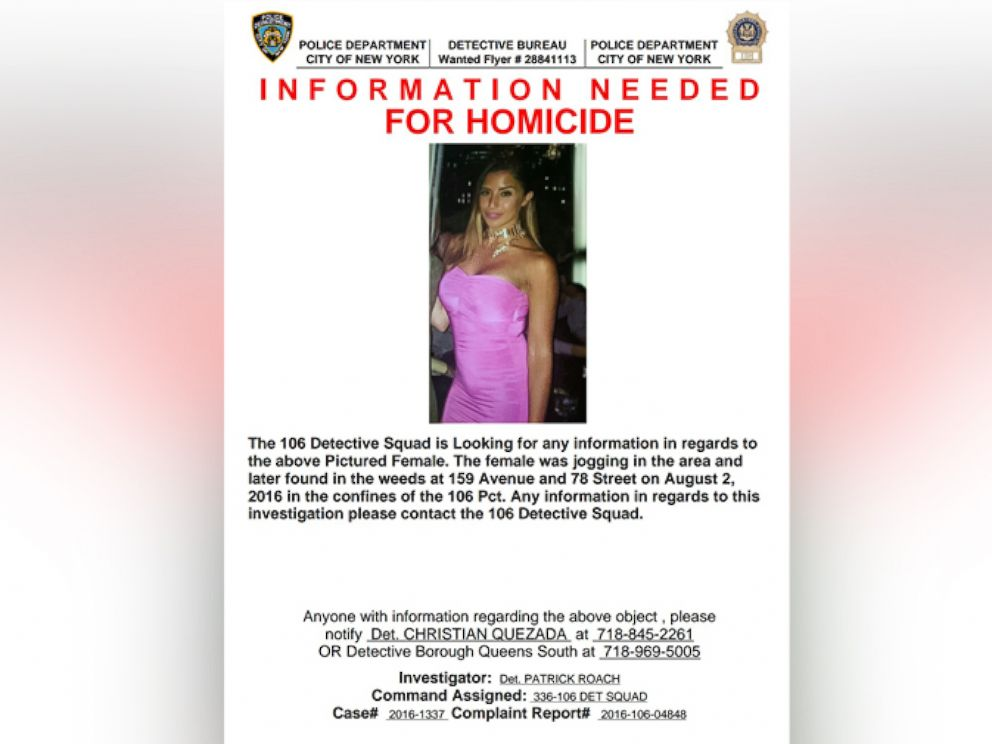 PHOTO: A poster released by the NYPD in Aug. 2016 as they searched for the killer of 30-year-old Karina Vetrano.