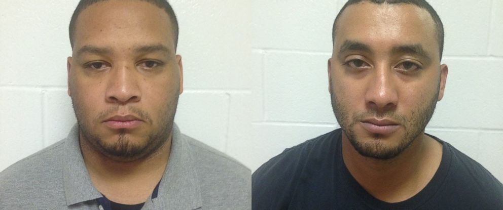 PHOTO: Louisiana State Police have released mug shots for Derrick W. Stafford (left) and Norris J. Greenhouse Jr., the police officers arrested on November 6, 2015, in the death of a 6-year-old boy in Louisiana.