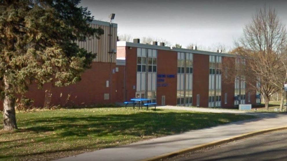 The Harmony Learning Center in Maplewood, Minnesota, where a student managed to fire a police officer's gun.
