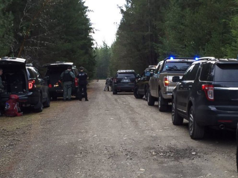 PHOTO: A SWAT team assisted Mason County police on a shooting scene in Belfair, Washington Friday.