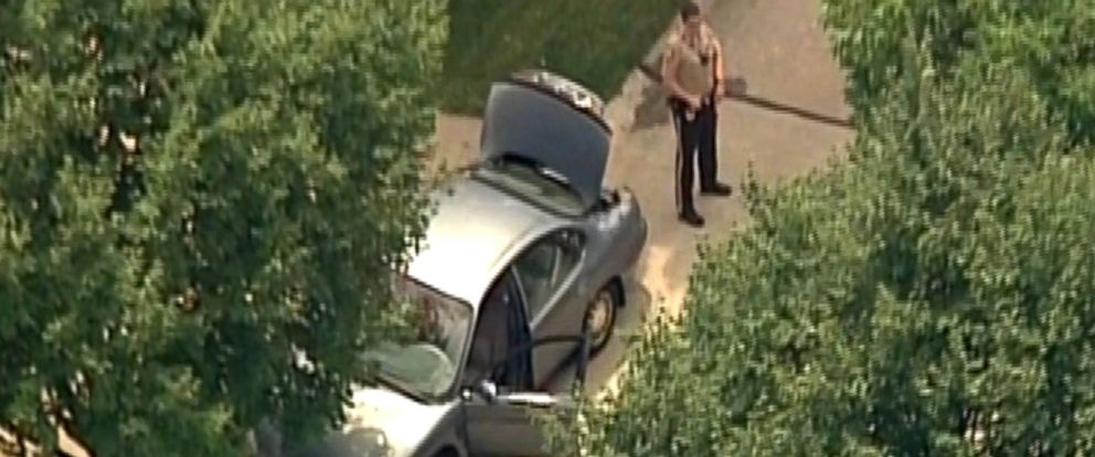 PHOTO: An officer with the Ballwin Police Department in Ballwin, Missouri was shot during a traffic stop, July 8, 2016.