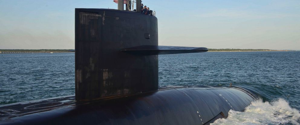 PHOTO: The Ohio-class ballistic missle submarine USS Wyoming returns to Naval Submarine Base Kings Bay following routine operations, June 28, 2014.
