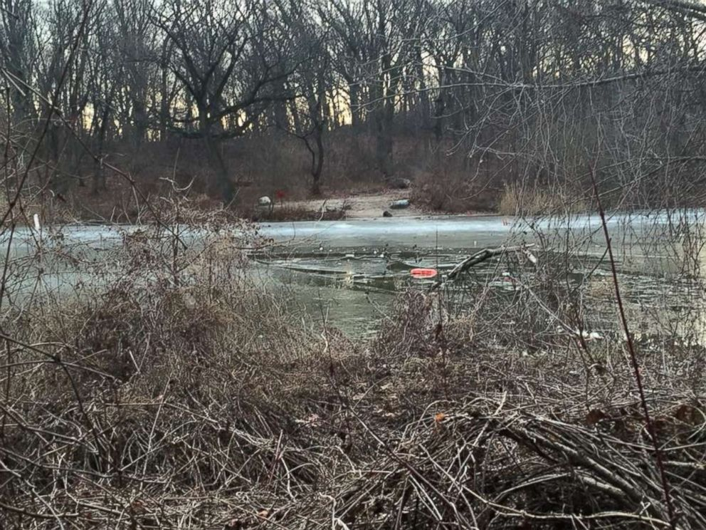 PHOTO: The Strack Pond at Forest Park in Queens, New York, where a young boy died Tuesday.