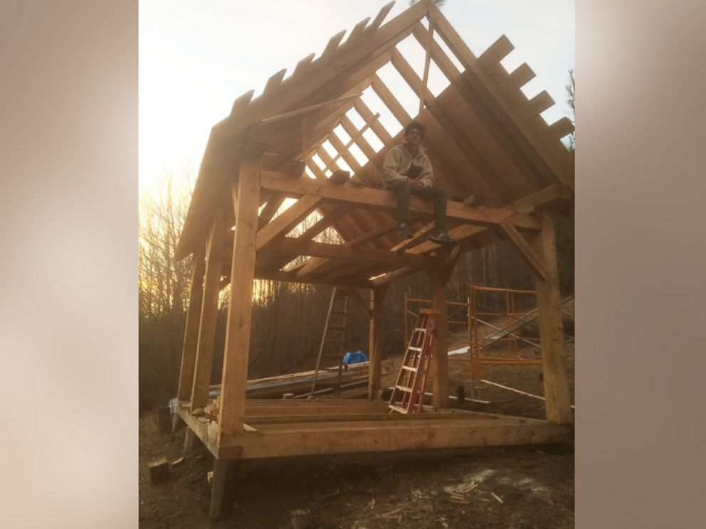 PHOTO: This photo provided by Owen Labrie shows him at the chapel he is allegedly building on his property in Vermont.