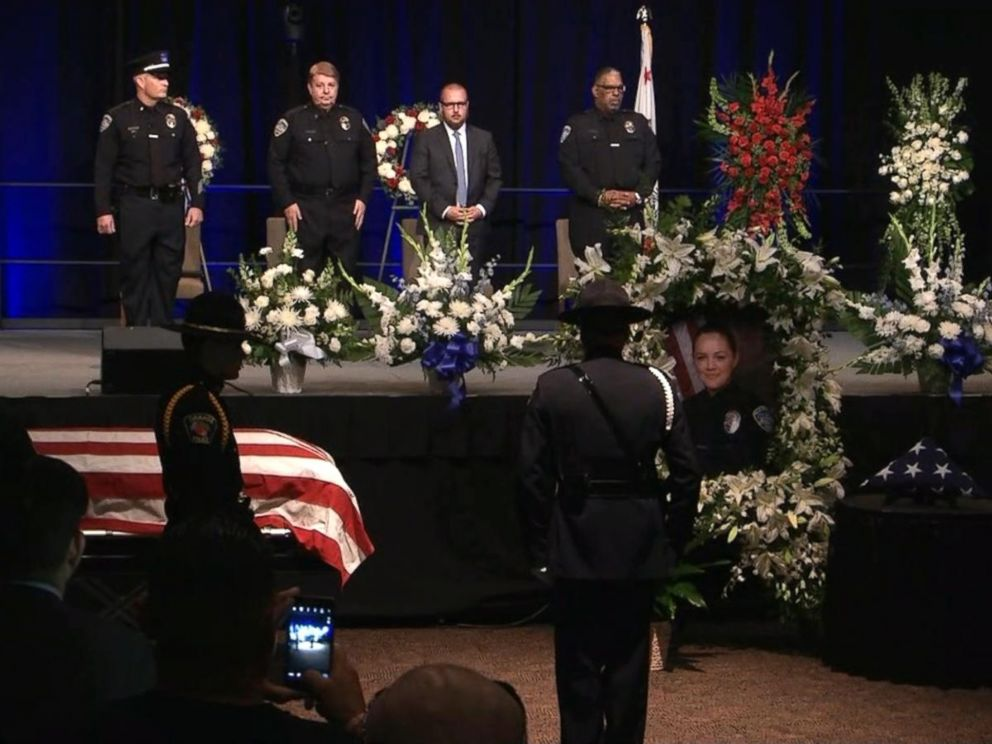 PHOTO: Memorial service in Palm Springs, California, held on Oct. 18, 2016, for two police officers who were killed in the line of duty.