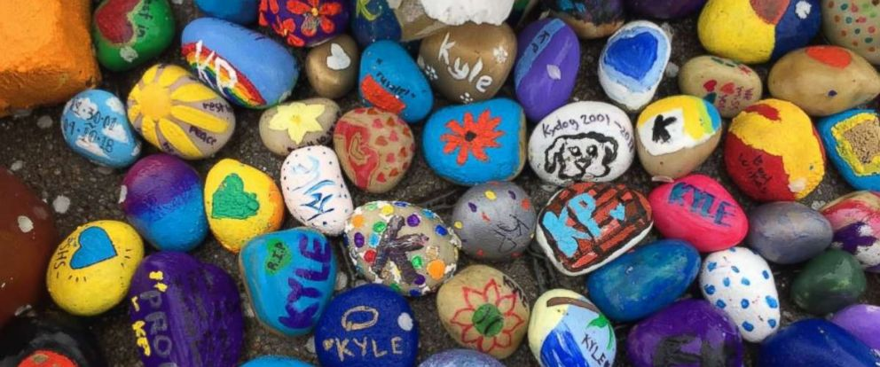 PHOTO: Students at The Seven Hills School in Cincinnati, Ohio created a collection of hand-painted stones in honor of Kyle Plush.