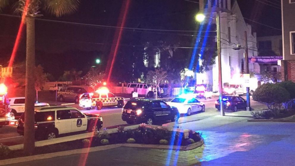 Police responded to a shooting at a church in Charleston, South Carolina, June 17, 2015.