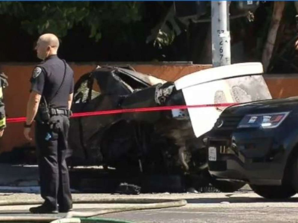 PHOTO: A high-speed police chase in California ended with a fatal crash on Sunday.