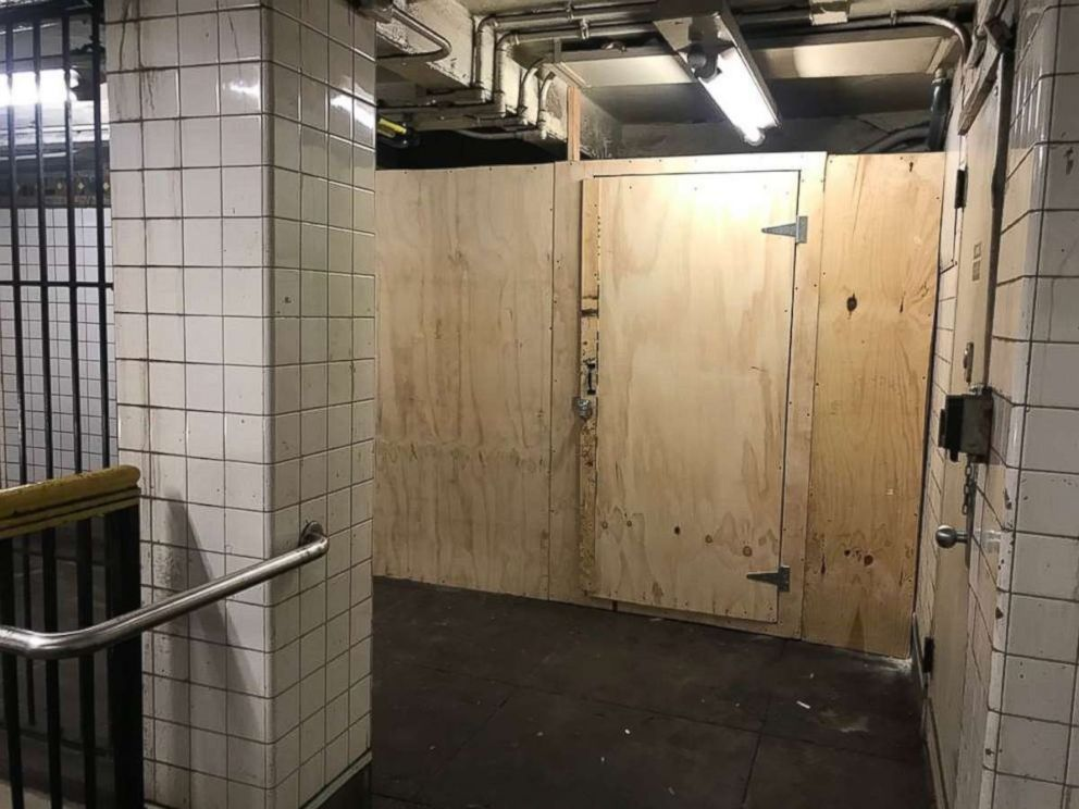 PHOTO: New York City police officers said a fake wall helped them catch a vandal on Friday, March 15, 2019.