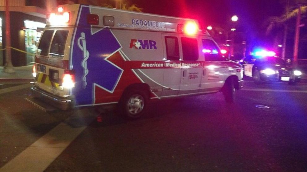 Oscar Flores posted a photo of an ambulance driving past where at least seven people were killed in a mass shooting, according to the Santa Barbara County Sheriff's Office, in Santa Barbara, Calif., on Saturday, May 24, 2014.