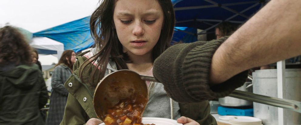 PHOTO: A scene from Save the Childrens Still the Most Shocking Second a Day film, which imagines a young British girl fleeing war in the UK and embarking on a dangerous journey.