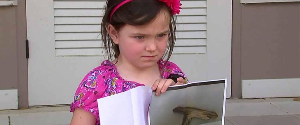 PHOTO: Caitlin Miller, 5, was suspended from school for playing with a stick that resembled a gun.