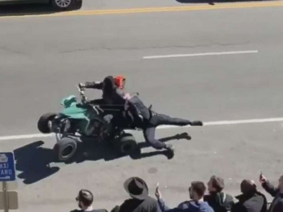 PHOTO: A Metro Nashville Police Department officer was injured during an illegal bikers demonstration on Friday, March 15, 2019.