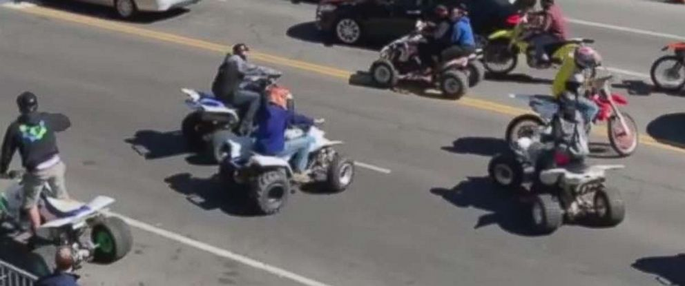 PHOTO: Police are searching for an ATV driver who was caught on video dragging a Nashville officer on Friday, March 15, 2019.