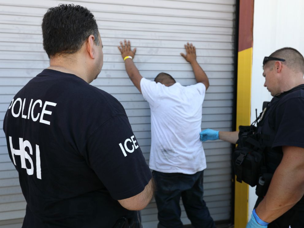 PHOTO: ICE detained 160 workers at Load Trail, a trailer manufacturing company in Texas.