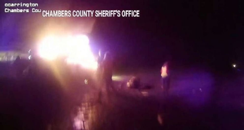 A Texas sheriff's department shared body camera footage from a rescue on Tuesday, Dec. 18, 2018.