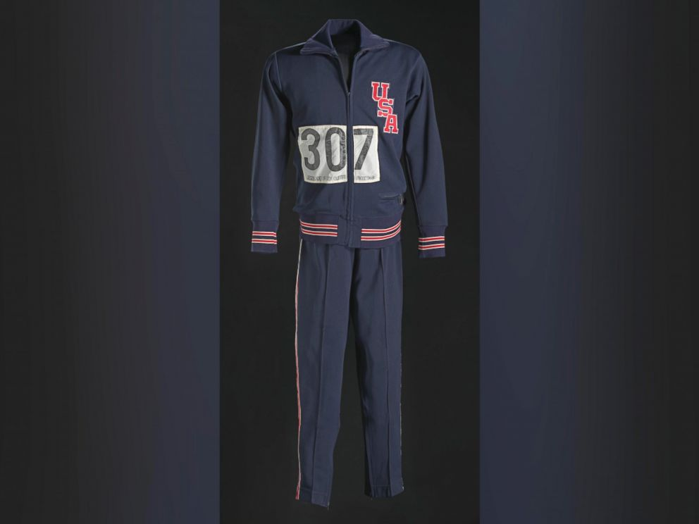 PHOTO: 1968 Olympic warm-up suit worn by Tommie Smith.