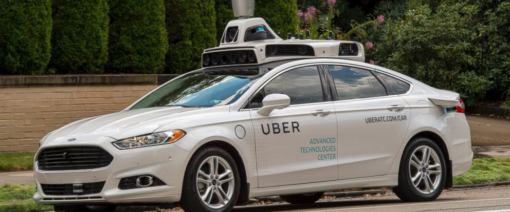 """PHOTO: Uber is rolling out a fleet of """"self-driving"""" cars in Pittsburgh with level 3 autonomy. Select riders in Pittsburgh could be paired with one of these vehicles."""