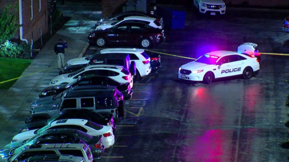 Police investigate a fatal shooing at the University of Utah on Tuesday, Oct. 22, 2018.