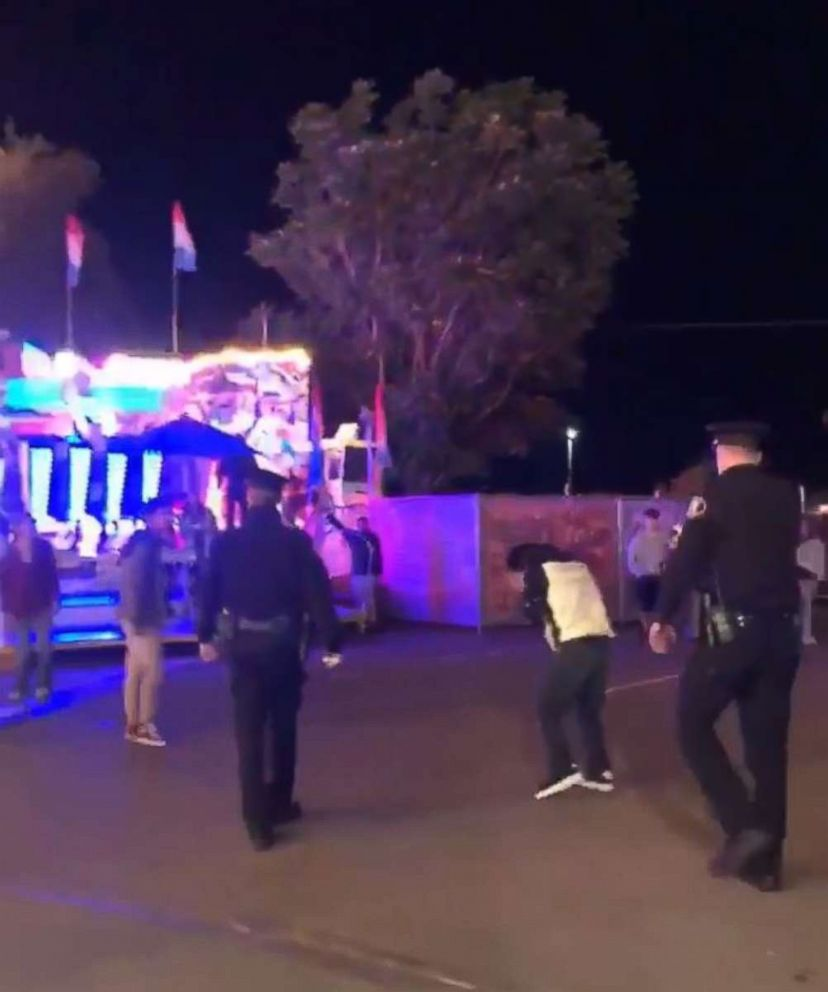 "PHOTO: Police said a video showed an officer ""using force while effecting an arrest"" at the Central Washington State Fair in Yakima, Washington."