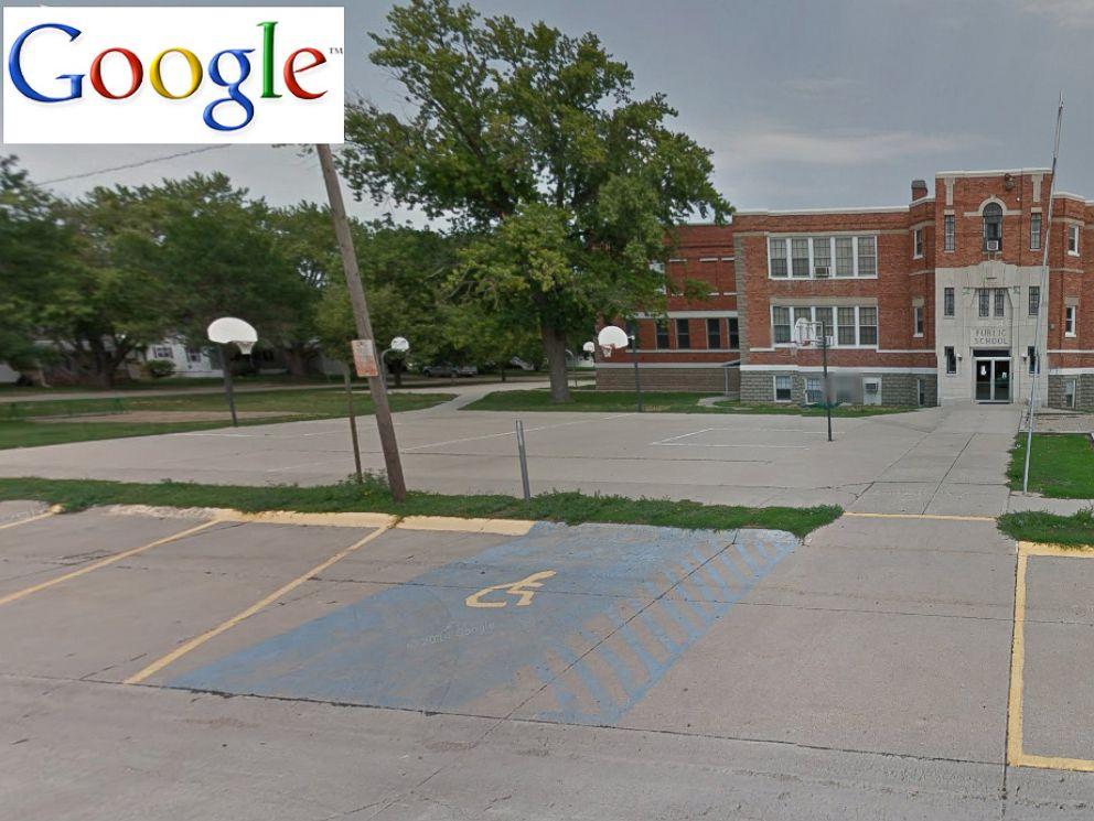 PHOTO: Wisner Pilger Middle School is seen in this undated Google map before the tornado in Nebraska struck, June 16, 2014.