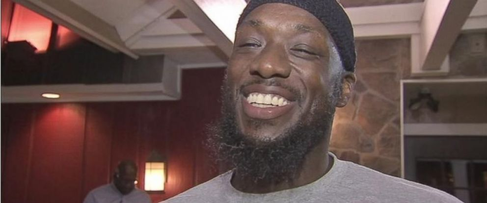 PHOTO: Shaurn Thomas of Philadelphia, Pennsylvania, after he was freed from prison.