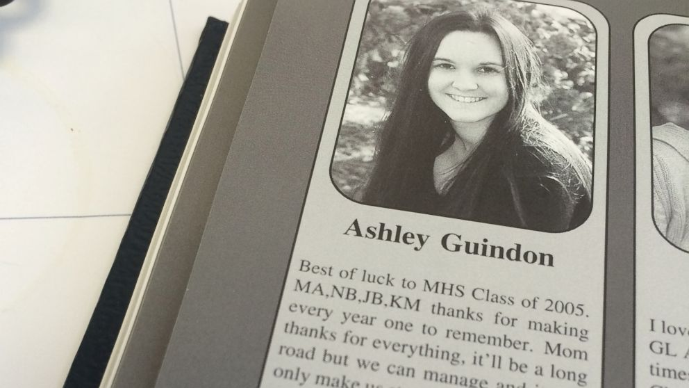 Merrimack High School principal Ken Johnson provided this yearbook photo of Ashley Guindon, a police officer killed in the line of duty Feb. 27, 2016.