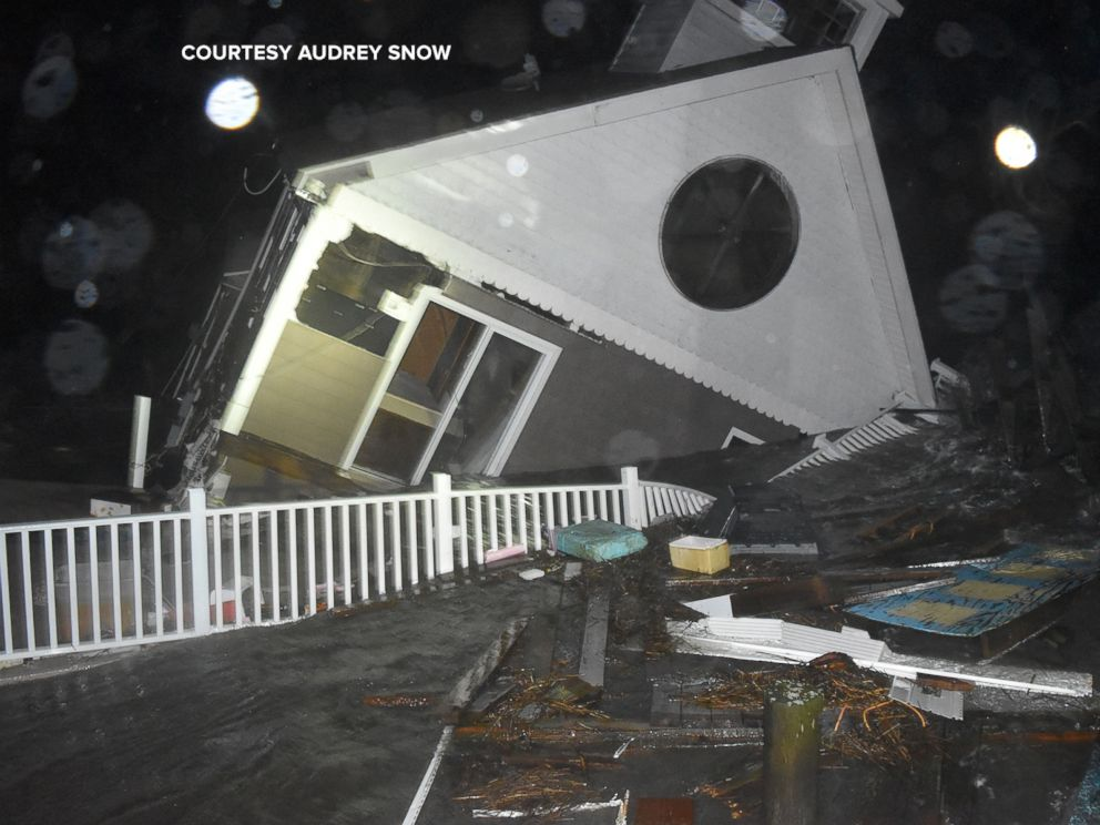 PHOTO: This home in North Wildwood, New Jersey, was destroyed from flooding Oct. 2, 2015.