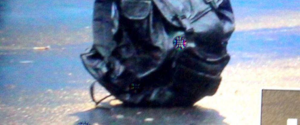 PHOTO: Suspicious Bags found near Boston Marathon finish line.