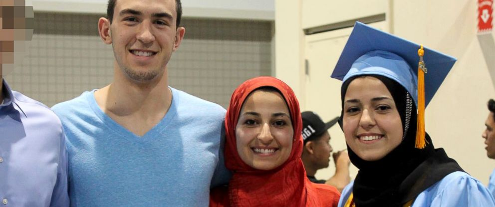 PHOTO: Deah Barakat, left, Yusor Mohammad, center, and Razan Mohammad Abu-Salha, right, are seen in this undated Facebook file photo.