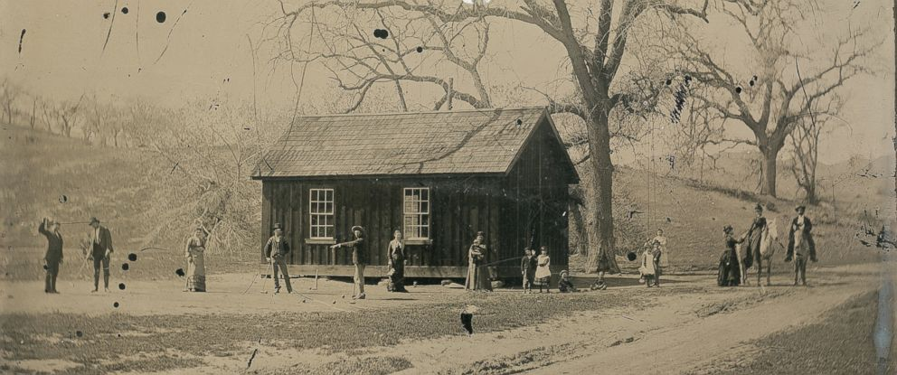 PHOTO: Kagins Inc. says it has authenticated only the second-known image of notorious frontier bandit Billy the Kid, seen here playing croquet with members of his gang and women and children.