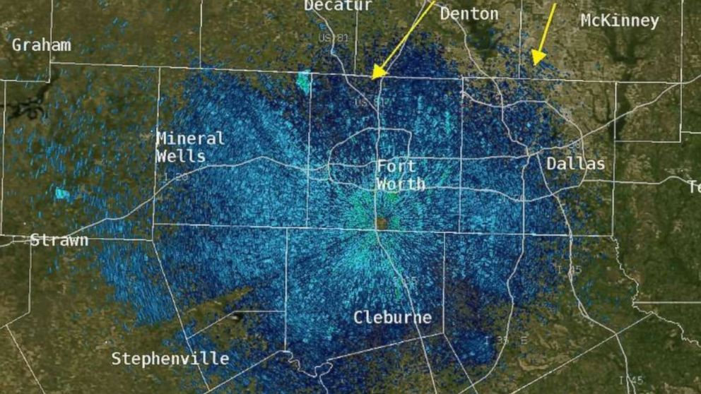 Weather radar picks up widespread bird migration - ABC News