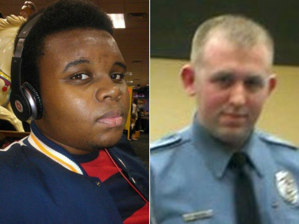 PHOTO: Michael Brown, left, is seen in this photo posted to Facebook, May 19, 2013. Ferguson police Officer Darren Wilson, shown in this screen shot via Facebook, earned police honor before fatal shooting.