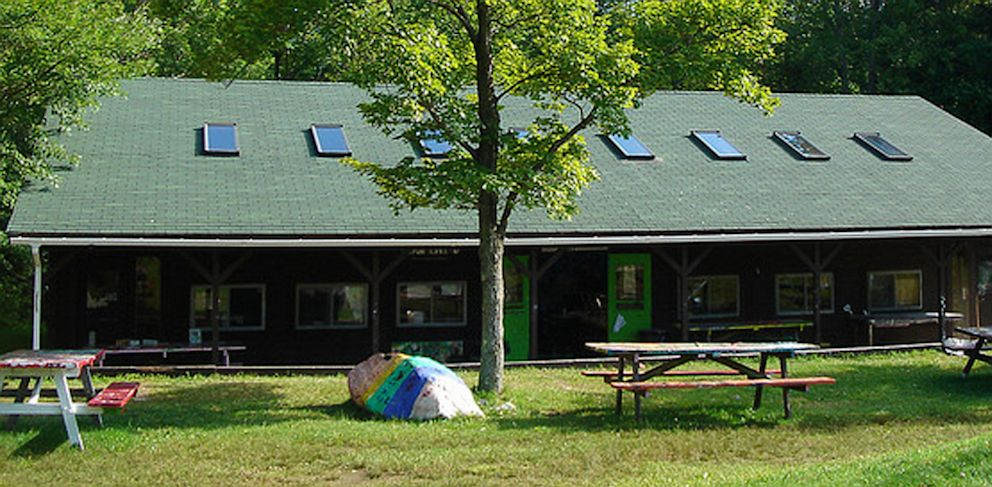 PHOTO: The Camp Emerson Arts Center, where the kiss allegedly happened, is shown.