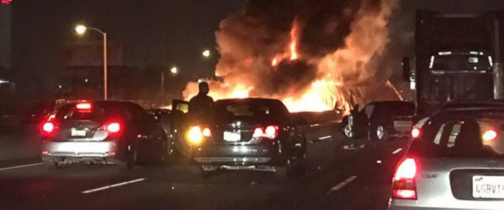 Three Killed in Fiery, Multi-Car Crash in East Los Angeles - ABC News