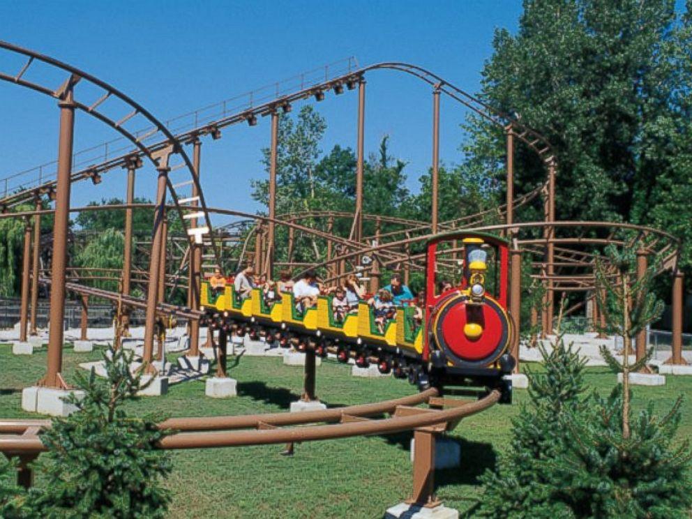 PHOTO: Woodstock Express rollercoaster at Cedar Point amusement park in Sandusky, Ohio.