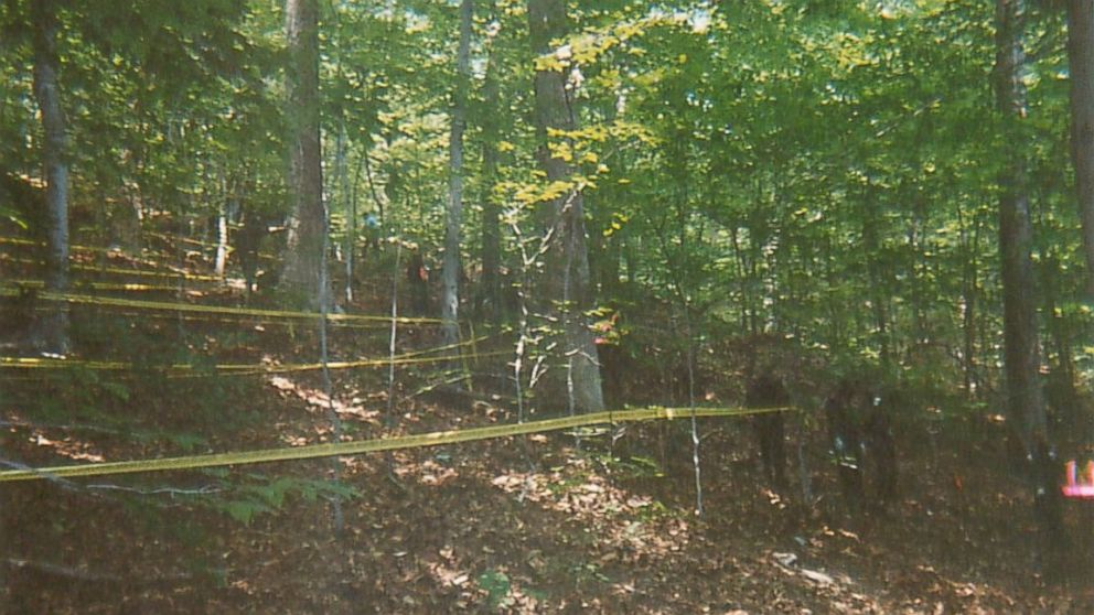 A photo from the crime scene shown at the Chandra Levy trial.