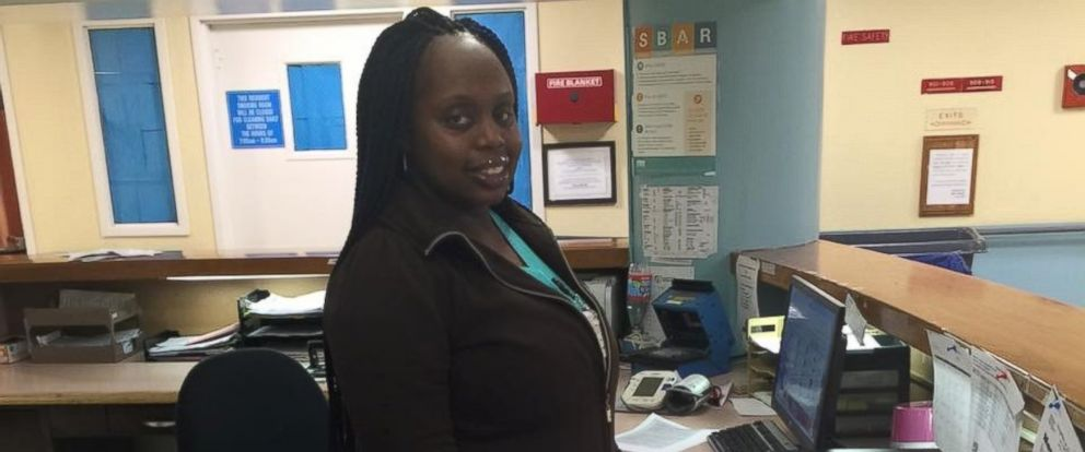 PHOTO: Chantelle Diabate braved the blizzard on Sat. Jan. 23, and walked close to two miles to get to her job at a Bronx nursing home.