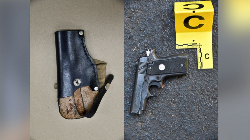 Photograph of a gun and holster Charlotte-Mecklenburg, North Carolina, police say they recovered as evidence after the shooting of Keith Lamont Scott.