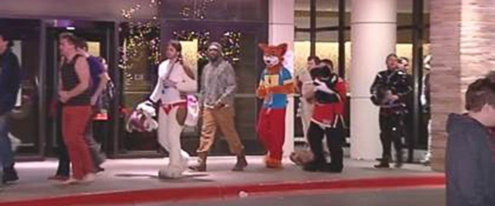 Police say someone may have intentionally released chlorine gas at the Rosemont Hyatt Hotel in Illinois Dec. 6, 2014, sending 19 to the hospital and disrupting a convention to celebrate furry animals.