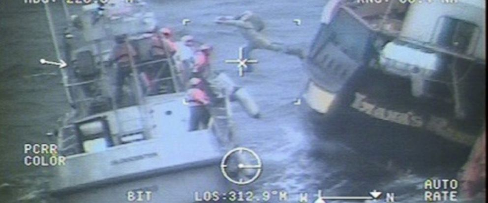 PHOTO: The Coast Guard rescued nine crew members from the Canadian Tall Ship Lianas Ransom on Monday, March 30, 2015.