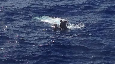 PHOTO: A 54-year-old man was rescued from his capsized vessel approximately 10 miles southwest of Port Allen, Kauai, July 19, 2013.