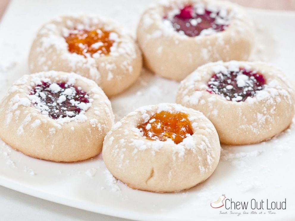PHOTO: Recipe for the Jam Thumbprint cookies from the food blog Chew Out Loud.