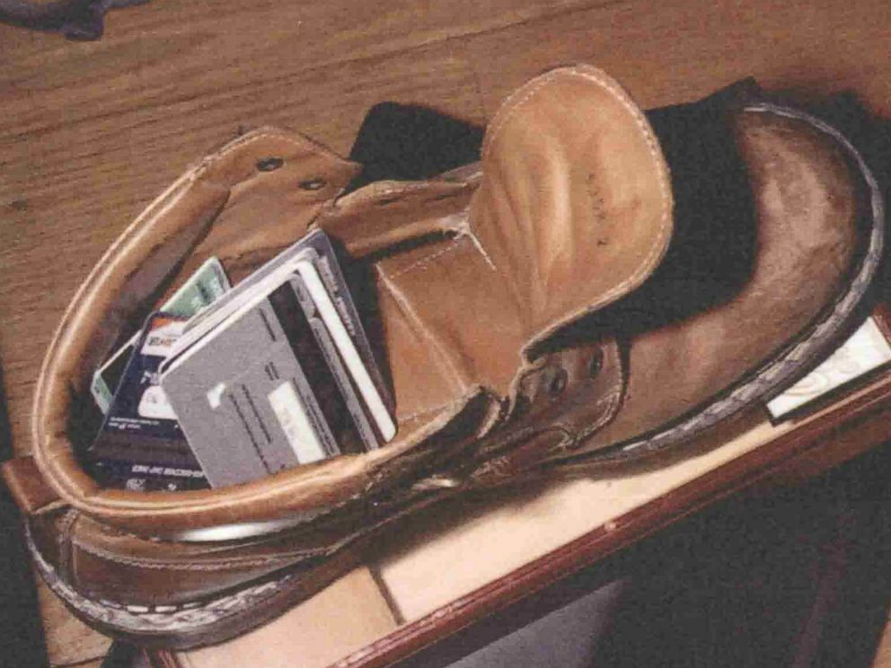 PHOTO: Investigators found these credit cards hidden in Archie Cabellos boot.