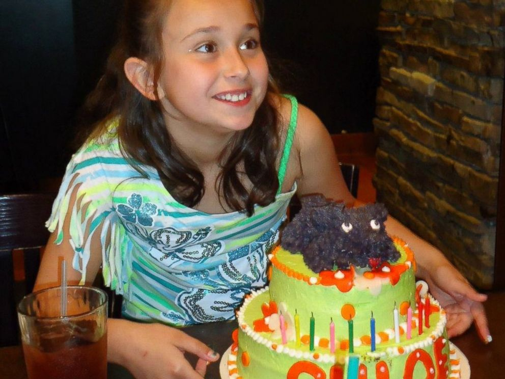 PHOTO: Chloe Stirling with a birthday cake.
