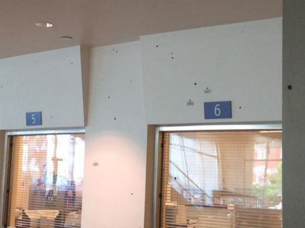 PHOTO: Dallas police are investigating a shooting at police headquarters the morning of Saturday, June 13, 2015.