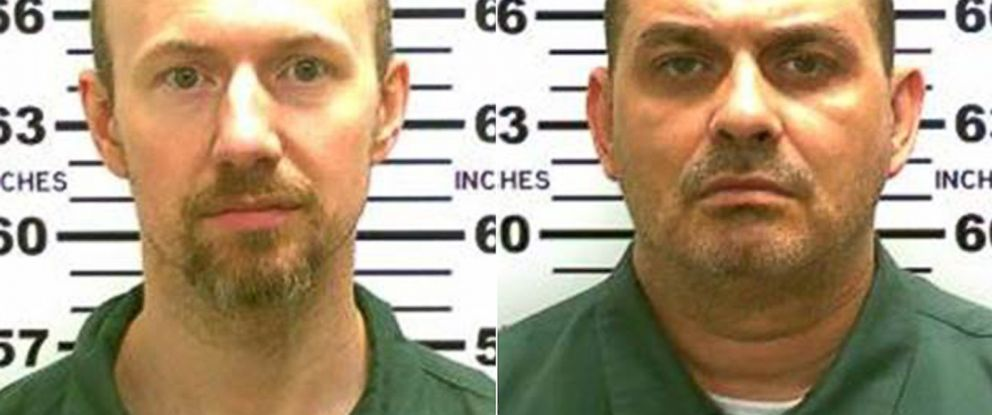 PHOTO: From left, David Sweat and Richard Matt are shown in undated photos released by the New York State Police. The two convicted murderers escaped from prison in upstate New York the morning of June 6, 2015.