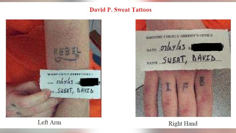 Undated photos released by the New York State Police show David Sweat, who escaped from the Clinton Correctional Facility in Dannemora.